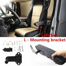 Black Universal PU Centre Armrest Console Car Seat Arm Rest Adjustable L-bracket