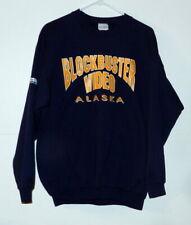 Vintage Alaska Blockbuster Video Shirt UAA Seawollf Seawolves Hockey Zamboni