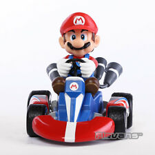 Super Mario Bros. Mario Pull Back Racers Racing Kart Car Toy Figure Doll New