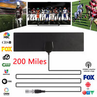 Indoor Digital TV Aerial Antenna Freeview 4K HD Signal Booster 200 Miles