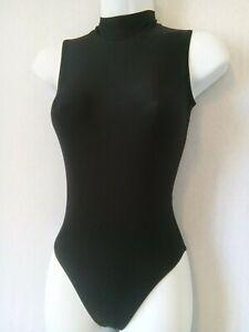 Ladies Black ROCH VALLEY Sleeveless Dance Leotard Size 3 - High Neck Ballet Gym