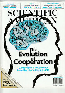 SCIENTIFIC AMERICAN Magazine July 2012 - The Evolution Of Cooperation