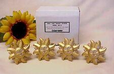 Vintage Sun Face Napkin Rings Holders (4) Lillian Vernon Gold Tone