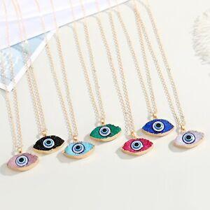 New Fashion Colourful Turkish Evil Eye Necklace Resin Lucky Eye Pendant