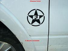 FJ Cruiser Military Star Decals PAIR Fender Hood Window 07 08 09 10 11 12 13 14