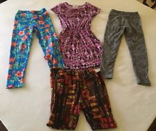 LuLaRoe Little Girls 4 Dress & Little Girls Leggings S/M Four LuLaRoe Pieces 🦄