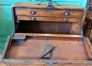 Antique Wooden Engineers Tool Box/Chest