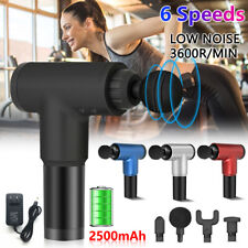 Massage Gun Percussion Massager 6 Speed Tissue Muscle Vibrating Body Relaxing