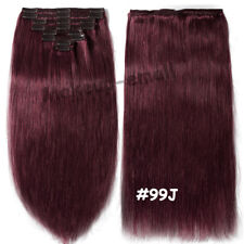 Luxury Clip in Remy Human Hair Extensions Thick Double Weft Full Head US