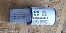 Geocaching Geocache- Filmdose 35mm Micro + Logbuch NEU, wasserf. Aufkleber