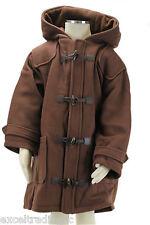 JACADI Girl's Bati Chocolate Duffle Coat With Hood Size 4 Years NWT $196