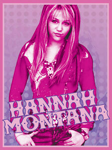 Disney Hannah Montana 133x200 54x80 Licensed Area Rug mat non-Slip Carpet new