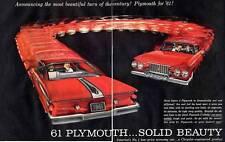 1961 Plymouth Sport Fury 4-door  PRINT AD