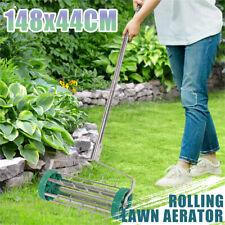Lawn Aerator Rolling Push Spike Roller Tool Garden Farm Yard Grass Scarifier AU