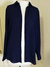 Asos Size 10 Navy Blue Long Sleeve Shirt