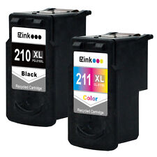 2PK Canon PG-210XL 210 XL Cl-211XL 211XL with CHIP - SHOWS ACCURATE INK LEVEL