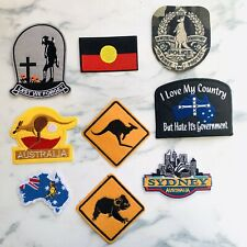 Australian Flag Iron On Patch Aboriginal Kangaroo Koala Australia Animal Badge