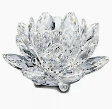 Swarovski Crystal Waterlily Candle Holder, Medium, 3.75�, Mint In Box