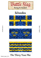 Battle Flag - Swedish Infantry (Thirty Years War) - 28mm