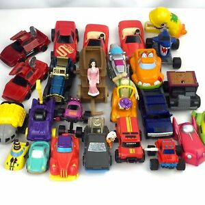 90s Vtg Burger King Wendy's Sonic McDonalds Trucks Cars Space Fast Food Toy Lot