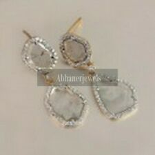 Unique Women Pave Dimond Earring 925 Sterling Sliver Wedding Gift