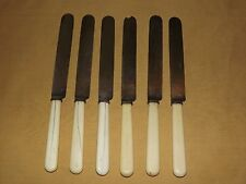 "VINTAGE KITCHEN SET OF 6 LAMSON GOODNOW S FALLS WORKS 10 1/2"" LONG KNIVES"