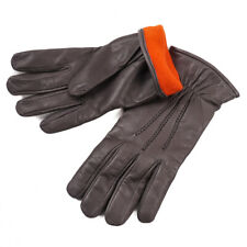 NWT $360 SANNINO NAPOLI Gray Nappa Leather Gloves with Cashmere Lining 9 (L)
