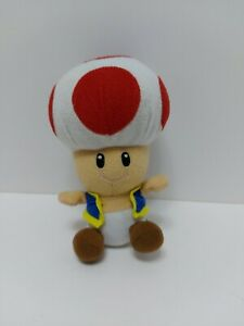 """Rare Vintage 2003 Mario Party 5 Sanei Hudson Plush Bean Bag plush Toad 7"""""""