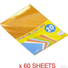60 SHEETS A4 ALUMINIUM PAPER CRAFT GIFT WRAPPING COLLAGE SHINY METALLIC FOIL