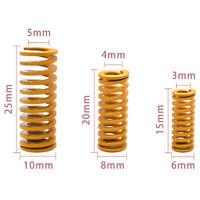 4Pcs 3D printer parts hot bed glass platform leveling spring 15/20/2 Ev