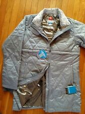 New Columbia Women Winter Omni-Heat Long Coat Jacket Thumbholes ski Gray M L XL