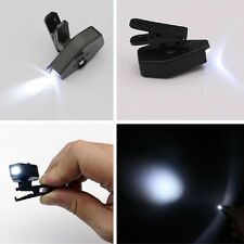 Flexible Book Reading Lights Mini LED Eyeglasses Clip on Repair Work  Kit;,