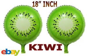 "18"" Foil Balloons Fruit KIWI Design Helium/Air Summer Party Balloon decoration"