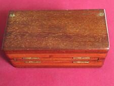1890 Whittington wooden Travel Chess Set Jaques of London Vintage Antique Rare