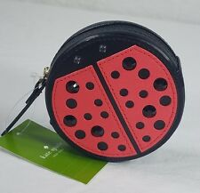 NWT Kate Spade Crystal Studded Ladybug Red & Black Coin Purse $68.00