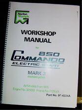 1975-77 Norton Commando, Mark 3, NEW, OEM, Factory Shop Manual, Brown Paper Wrap