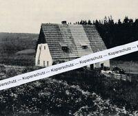 Zinnwald im Erzgebirge - Bauernhof - um 1935 - selten  J 4 - 15
