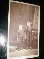 Cdv old photograph boys with bugle by Ellison Quebec Canada c1860s