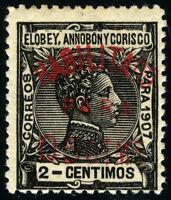 ELOBEY 50B*  SELLO HABILITADO DEL TIPO ANTERIOR AÑO 1908-1909
