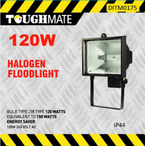 120W Halogen Floodlight Energy Saving Black Halogen Floodlight Lamp New