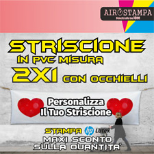 BANNER 1x2 mt STRISCIONE PUBBLICITARIO PVC PERSONALIZZATO GR.510
