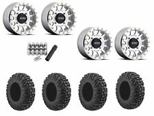 "Method 401 Beadlock 14"" Wheels Rims 4+3 30"" EFX MotoVator Tires RZR Turbo 1000"