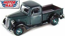 Motormax 1:24 Ford 1937 Pickup Metallic Green 73233G Diecast Model.