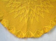 Nappe jaune en coton jaune au crochet vintage 70's