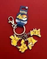 Official Nintendo Pokémon Pokemon Go Pikachu 4 Poses Keychain/Keyring Charm Set