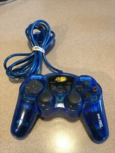 Mad Catz Dual Force 8016 Controller for PS2 PlayStation Remote Wired Blue