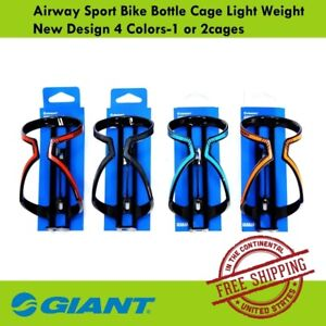 Giant Airway Sport Bike Bottle Cage Light Weight New Design 4 Colors-1 or 2cages
