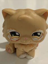 Littlest Pet Shop Cat Persian #490 Diamond Eyes Lps Blemished