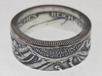Münzring 2 Mark Kaiserreich 1913 DER KÖNIG RIEF Gr. 50 bis 64 vintage / poliert