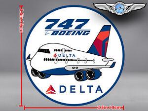 DELTA AIR LINES ROUND PUDGY BOEING B747 B 747 DECAL / STICKER